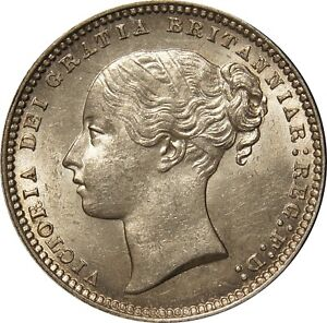 1868, Victoria Shilling. Uncirculated. Spink £575
