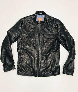 Hugo Boss Men's Leather Jacket (Size 48)     RRP £695