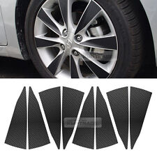 "Carbon Black Spoke Wheel Vinyl Decal Sticker 16"" 32pcs for HYUNDAI 11-17 Accent"