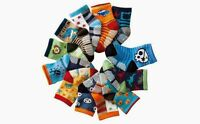 Pack of 12 Baby Boys Anti-slip Ankle Socks Age 6/9/12/18/24 Months Stars Stripes