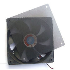 120mm Computer PC Dustproof Cooler Fan Case Cover Dust Filter Mesh 4 screw、Fad