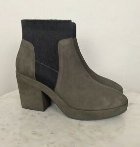 Eileen Fisher Women's Suede Bootie Shoes US 11 NWOB Boot Gray Multi