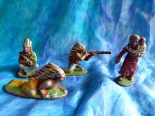 QUIRALU. Indienne et indiens - 4 figurines en aluminium Q24 - Native american