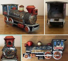 Vintage TIN TOY Western Locomotive 🚂 Battery Powered Train Spares or Repairs