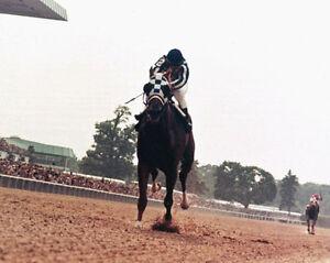 Triple Crown SECRETARIAT Glossy 8x10 Photo Ron Turcotte Belmont Stakes Print