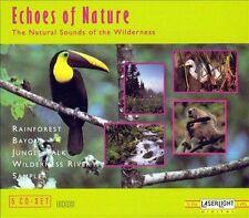 NEW 5 CDS Echoes Of Nature Relaxation Rainforest Bayou Jungle Wilderness Sampler