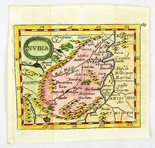 L' Egypte Nubie, NIL AFRIQUE CUIVRE clés carte Egypt map Duval tu val 1681 #d892s