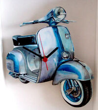 Scooter Wall Clock, Mod Scooter Clock, Vintage Scooter Wall Clock, GS Scooter