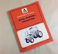 ALLIS CHALMERS 200 DIESEL TRACTOR OPERATORS OWNERS MANUAL MAINTENANCE CONTROLS