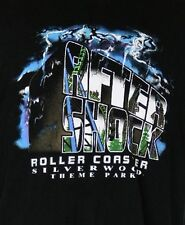 Aftershock Roller Coaster Silverwood Theme Park Idaho Black T-Shirt L