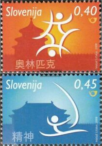 slovenia 679-680 (complete issue) unmounted mint / never hinged 2008 Olympics Su