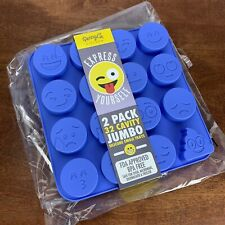 JUMBO sized Silicone EMOJI Molds for Baking Chocolate,Candy Cookies, Soap