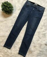 Paige Jeans Skyline Ankle Peg Size 28 Medium Wash Raw Hem Slim Fit #142