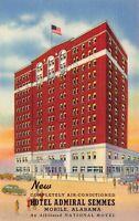 Linen Postcard Hotel Admiral Semmes in Mobile, Alabama~128988