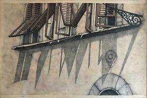 Alessandra Cancogni litografia Finestre 70x50 firmata numerata 22/40