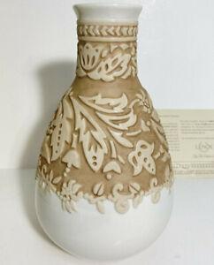 """NWB LENOX 'Burnished Amber' Medium Vase 9.5"""" Ivory/Brown"""