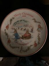 Peter Rabbit Merry Christmas 1999 Plate By Wedgewood.