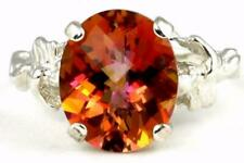 925 Sterling Silver Angel Ring, Twilight Fire Topaz, SR154
