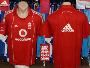 Cricket England Adidas Shirt Jersey Camiseta Maglietta 2008 Training Leisure L
