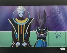 JASON DOUGLAS & IAN SINCLAIR SIGNED BEERUS & WHIS 11X14 PHOTO DRAGON BALL JSA