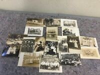 Lot Of Mixed Real Photo Postcards RPPC-Groups-Buildings-Feast