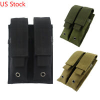 US Double Magazine Pouch Tactical MOLLE Pistol Magazine Holder for Hunting
