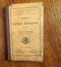 Livre scolaire Cours élémentaire Leçon de LANGUE FRANÇAISE Fin XIX°