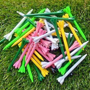"""30 X 69MM  """" CHAMP ZARMA """" PLASTIC GOLFTEES  AST/COLOURS  FREE U.K P&P"""