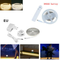 Motion Activated PIR Sensor LED Strip Night Light for Bedroom Kitchen DC5V/12V
