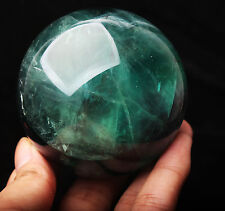 485g NATURAL Like the appearance of white feathers FLUORITE CRYSTAL SPHERE BALL