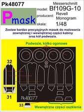 MESSERSCHMITT Bf-109 G-10 PAINTING MASK TO REVELL/MONOGRAM KIT #48077 1/48 PMASK