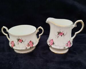 Vintage Princess House Spode England Hammersley Rose Sugar and Creamer Set