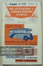 The AUTOMOBILE & CARRIAGE BUILDERS JOURNAL Magazine July 1937 Vol 78 No 470