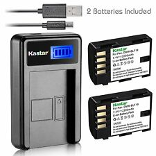 DMW-BLF19 Battery & LCD USB Charger for Panasonic Lumix GH4H GH4A DC-G9 DC-GH5