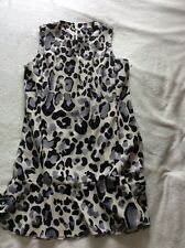 Next Size 14 Animal Print Pretty And Smart Tunic Dress With Front Pockets