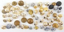Military Buttons x 65 Mixed Sizes - Joblot - Lot - militaria - Raf - Navy - Army