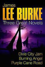 Three Great Novels: Dixie City Jam; Burning Angel; Purple Cane Road-ExLibrary