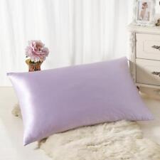 Silk Sofa Bed Rectangle Cushion Cover Throw Pillow Case Pillowcase Simple Solid