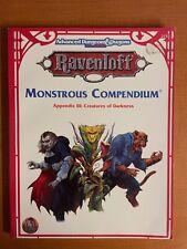 TSR AD&D Ravenloft Monstrous Compendium 1 NM