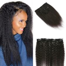 7pcs Brazilian Yaki Straight Curly Clip in 100% Virgin Human Hair Extensions