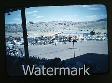 1950s red border Kodachrome Photo slide Gallup NM  Rodeo cars Horses 1