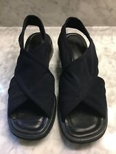 Bandalino Adelie Navy Fabric Sandals Women's Size 7.5