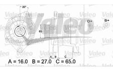 VALEO Alternador para CITROEN XSARA BERLINGO PEUGEOT PARTNER 306 FIAT SCUDO