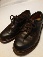 Dr Martin Men's Shoes Air Sole Dark Brown Leather Made In England Size 9 Oxford