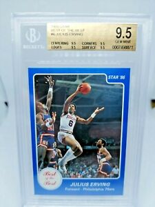 1986 Star Best Of The Best #6 Julius Erving BGS TRUE Gem Mint 9.5