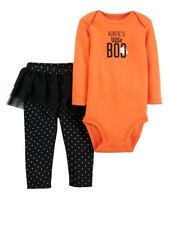 """nwt girls size 6 month """"auntie's lil boo"""" Halloween 2 piece outfit tutu"""