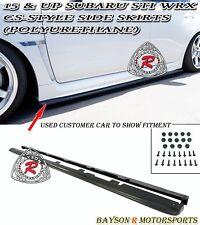 CS-Style Side Skirts (Urethane) Fits 15-18 Subaru WRX STi 4dr