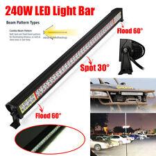 240W 42Inch LED LIGHT BAR FLOOD SPOT WORK LAMP FOR OFF ROAD 4WD BOAT UTE 12V 24V