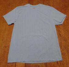 #2237-9J6 Blue Crew Neck  Cotton-Spandex T-Shirt XL
