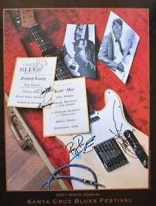 Santa Cruz Blues Festival Concert Poster 2001 Autographs